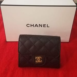 Auth Chanel vip Mini wallet / card holder /Coin